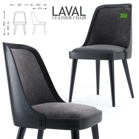 LAVAL LEATHER CHAIR(3ddanlod.ir) 952