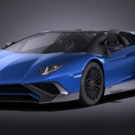 Lamborghini Aventador LP750-4 SV Roadster 2016 - Vray - 3D Model 080 (3ddanlod.ir)