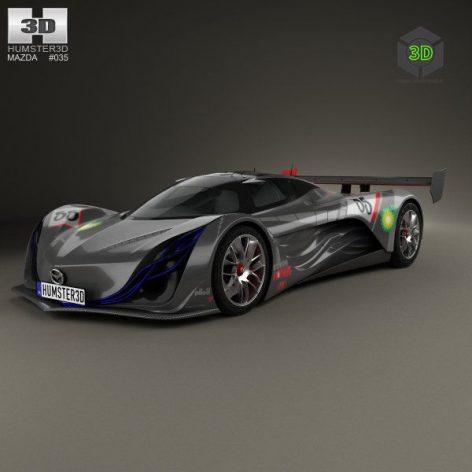 Mazda Furai Concept 2008 - Vray - 3D Model 051 (3ddanlod.ir)