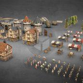 Medieval City Low Poly PBR Pack (3ddanlod.ir)