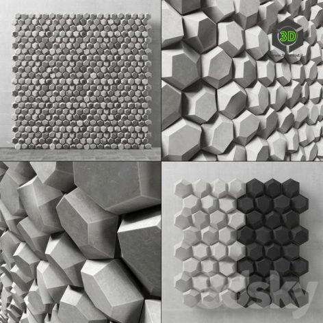 Panel Decorative Hexagon(3ddanlod.ir) 657