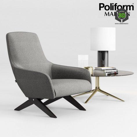 Poliform Marlon Armchair Set(3ddanlod.ir) 883