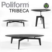 Poliform Tribeca Table Set x 3(3ddanlod.ir) 1100