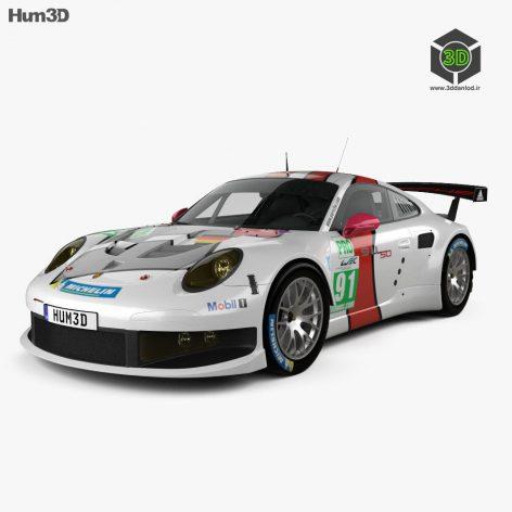 Porsche 911 Carrera (991) RSR 2013 - 3D Model 191 (3ddanlod.ir)