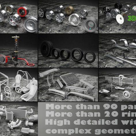 TurboSquid – Tune Your Car Kit 001 (3ddanlod.ir)