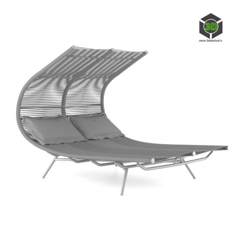 Double outdoor chair 361 (3ddanlod.ir)