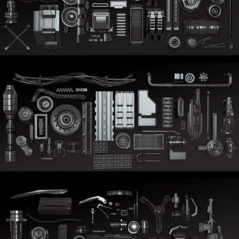 Gumroad - KitBash A-C Collection - David Lesperance (3ddanlod.ir)