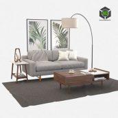 Living Room Set West Elm 224 (3ddanlod.ir)