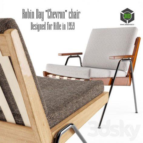 ROBIN DAY CHEVRON CHAIR HILLE 1959(3ddanlod.ir) 244