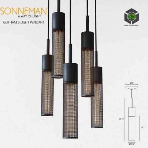 Sonneman Gotham 5(3ddanlod.ir) 484 (3ddanlod.ir)
