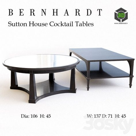 Sutton House Cocktail Tables(3ddanlod.ir) 266