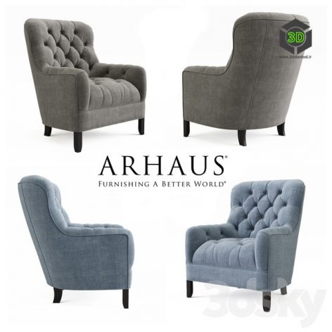 TUFTED UPHOLSTERED CHAIR IN TWEED(3ddanlod.ir) 425
