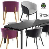 Ton Armchair Split Table Trapez(3ddanlod.ir) 908