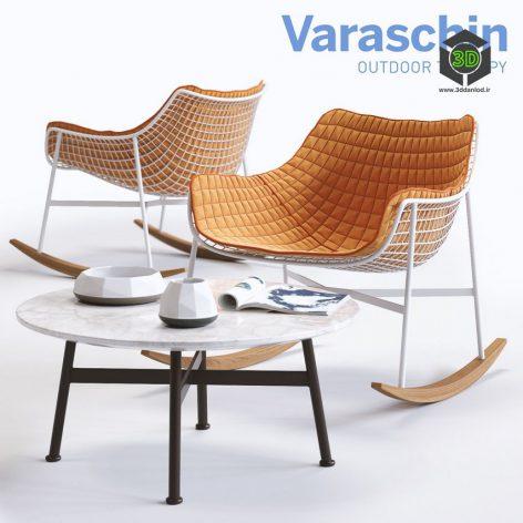 Varaschin SUMMERSET Rocking Armchair(3ddanlod.ir)