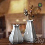 Vase Gray With Craquelure(3ddanlod.ir) 101
