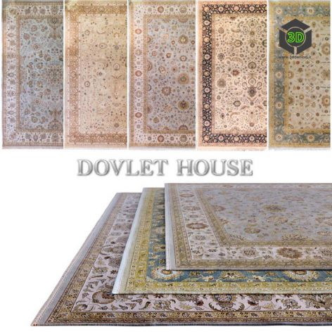 Ковры DOVLET HOUSE 5 штук (part 56) 070 (3ddanlod.ir)