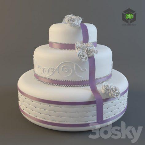 Свадебный торт 006 (3ddanlod.ir)