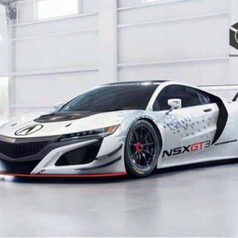 Acura NSX GT3 Race Car 2019 3D Model(3ddanlod.ir)