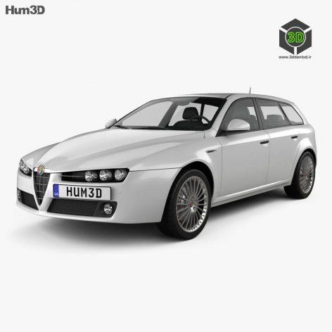 Alfa Romeo 159 Sportwagon 2011 3D model (4)(3ddanlod.ir)
