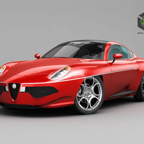 Alfa Romeo Disco Volante Touring 2013 - 3D Model (2)(3ddanlod.ir)