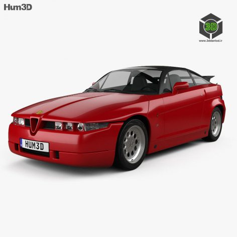 Alfa Romeo SZ 1989 3d model (3ddanlod.ir)