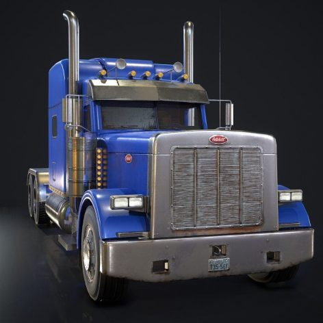 American Peterbilt Truck VR AR low-poly 3d model(3ddanlod.ir)