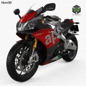 Aprilia Bike 3D Model(3ddanlod.ir)