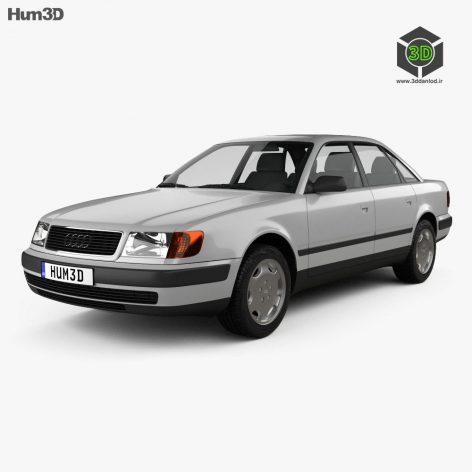 Audi 100 C4 sedan 1991 3D Model(3ddanlod.ir)