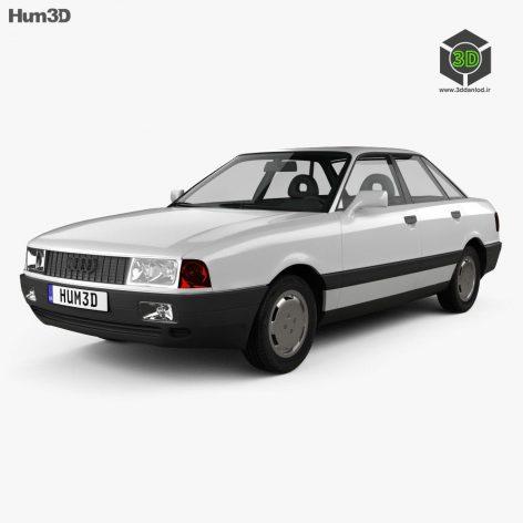 Audi 80 B3 1986 3D Model(3ddanlod.ir)