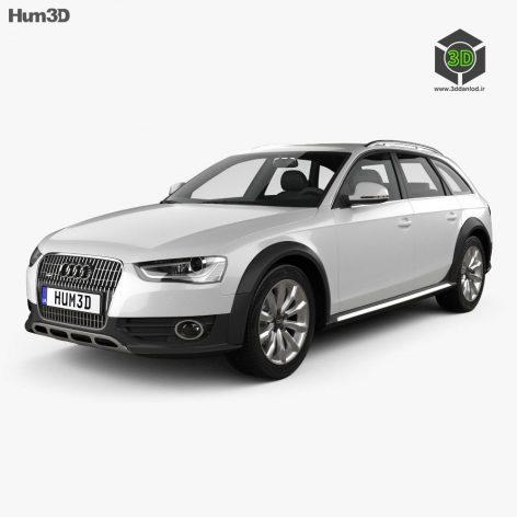 Audi A4 Allroad 2013 3D Model (3ddanlod.ir)