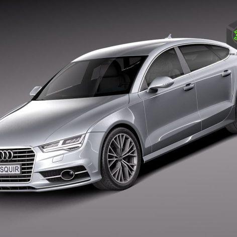 Audi A7 2015 3D Model(3ddanlod.ir)