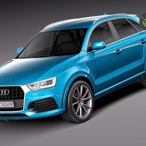 Audi Q3 2015 3D Model(3ddanlod.ir)