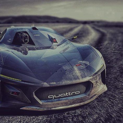 Audi Quattro Spectre BattleDrone Concept Car 1(3ddanlod.ir)