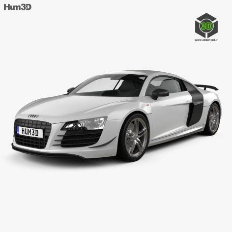 Audi R8 3d model(3ddanlod.ir)