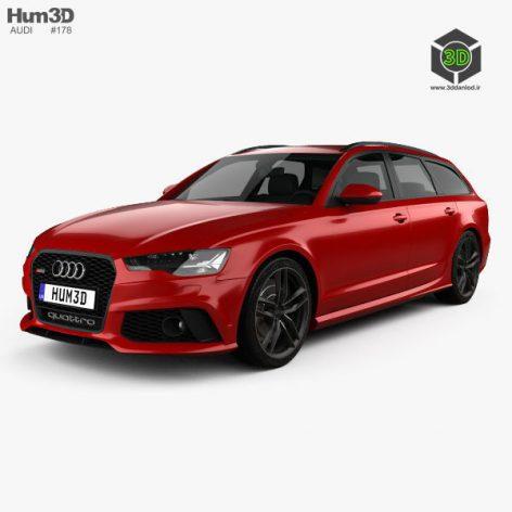 Audi RS6 avant 2020 3D model(3ddanlod.ir)