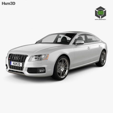 Audi S5 Sportback 2011 3D model(3ddanlod.ir)