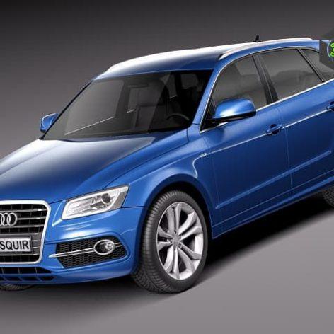Audi SQ5 2013 3d Model(3ddanlod.ir)