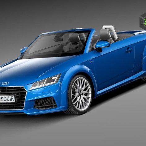 Audi TT Roadster 2015 3D Model(3ddanlod.ir)