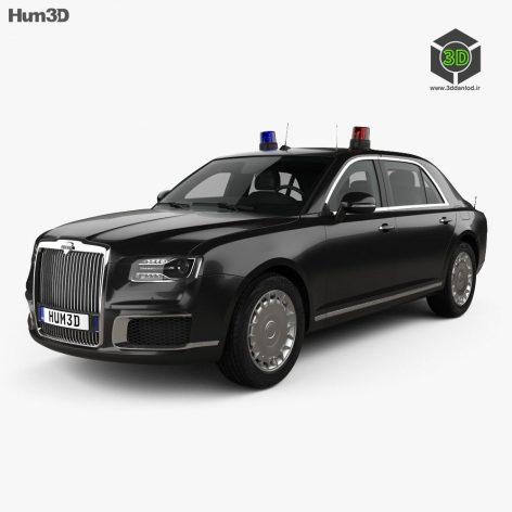 Aurus Senat 4123 sedan Guard 2018 3D Model(3ddanlod.ir)
