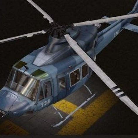 Bell 412 Helicopter 3D Model (3ddanlod.ir)