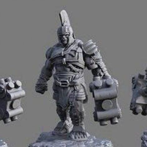 Gladiator Hulk Mesh 3D Model (3ddanlod.ir)