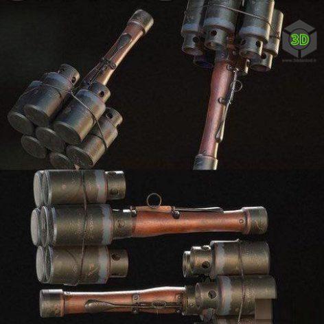 Grenade Stielhandgranate – 3D Model (3ddanlod.ir)