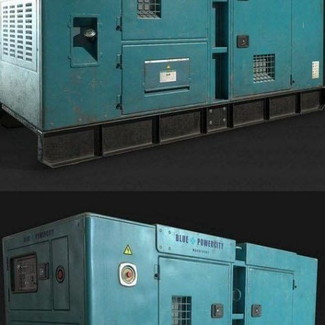 Industrial Diesel Generator – 3D Model (3ddanlod.ir)
