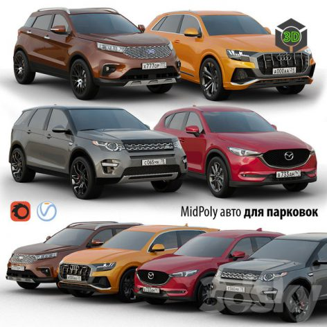 Low Poly Cars 3d models Collection (3ddanlod.ir)