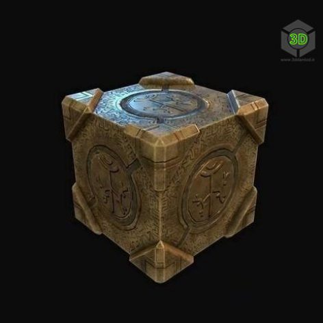 Magic Box low-poly 3D model (3ddanlod.ir)
