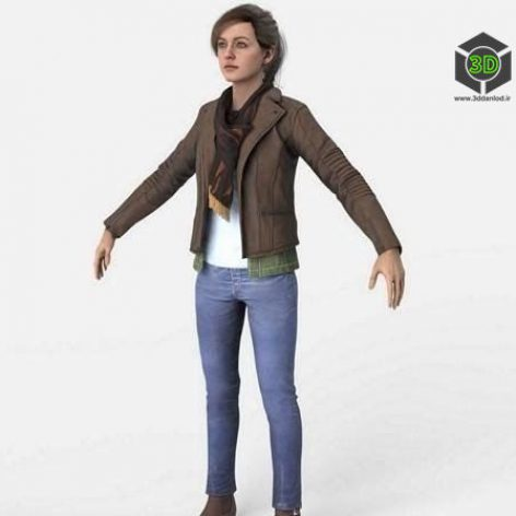 Mary Jane Watson from Spider-Man 3D Model (3ddanlod.ir)