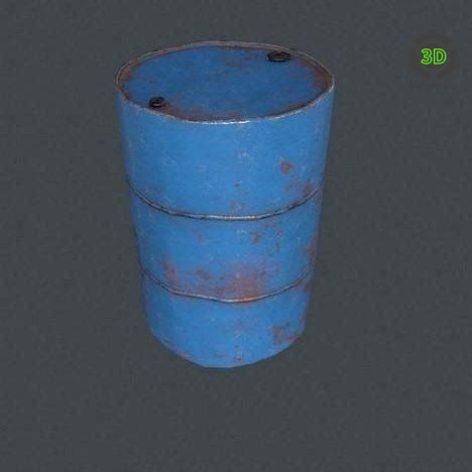 Metal Barrel VR PBR 3D model (3ddanlod.ir)