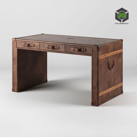 OM Письменный стол Слэб, Slab Desk 195 (3ddanlod.ir)