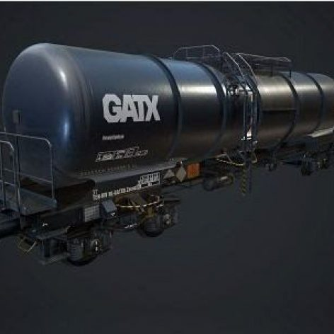 Oil Fuel Tanker 3D Model (3ddanlod.ir)