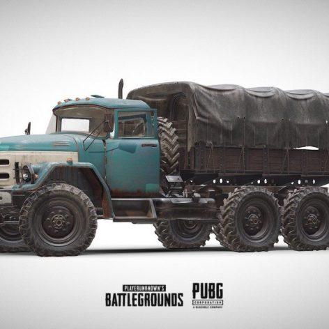 PUBG Truck 3d Model 003 (3ddanlod.ir)